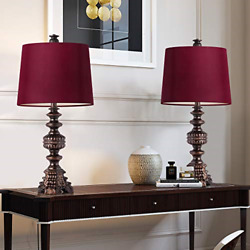Oneach Melinda Traditional Table Lamps Set Of 2 Vintage Desk Lamp For Living Oil