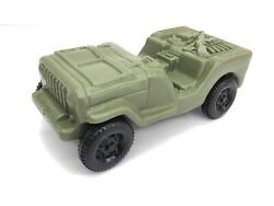 Vintage Tico Toys 9 Blow Mold Hollow Plastic Army Green Jeep Providence Ri