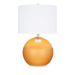 Catalina Lighting 21391-000 Mid-century Modern Round 2-tone Frosted Glass Table