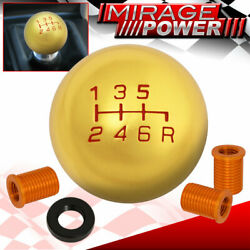 For Ford M10x1.25 6-speed Round Shift Shifter Knob Threaded Road Race 24k Gold