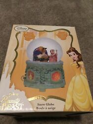 Disney Store Beauty And The Beast 25th Anniversary Snowglobe Belle And Beast