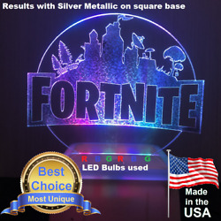 Fortnite City Acrylic Night Light Personalized Gaming Lamp Unique Led Options