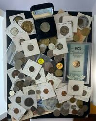 Us And Foreign Coin And Currency Lot Great Beginner Set Lot 32