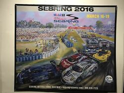 Official 2016 12 Hours At Sebring Event Poster