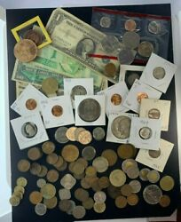 Us And Foreign Coin And Currency Lot Great Beginner Set Lot 22