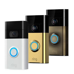 Ring Video Doorbell 720p Camera Wifi Motion Two Way Audio Monitor - Colours
