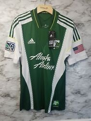 Rare Adidas Portland Timbers Mls Soccer Jersey 2013 Mens S 120 New Usa Patch