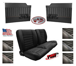 Sport 55 Bench Seat And Flat Door Panels W/ Pockets For 1953 - 55 Ford Truck's