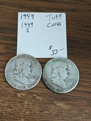 1949 P And S Franklin Half Dollars – Tough Date Circulated Usc-0230