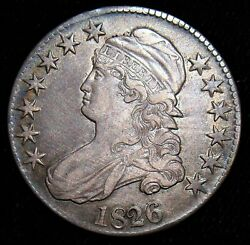 Stunning Type Coin 1826 Capped Bust Half Dollar Free Shipping.