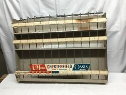 Vintage Chesterfield Cigarettes Metal Store Display Rack Mid Century Gas Station