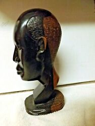 African Hand Carved Male Busts Ebony/ironwood Figures