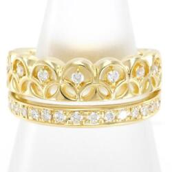 Jewelry 18k Yellow Gold Ring 11.5 Size Diamond 0.29 About8.7g Free Shipping Used