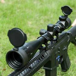 Pinty 6-24x50 Sniper Rifle Scope Hunting Rangefinder Red Green Reticle Mount Tet