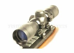 Ruger 10/22 Black Blued 4x30 Rifle Scope W/ Free Mount And Rings