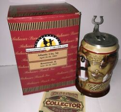 Budweiser Anheuser-busch A Proud Heritage 2002 Special Event Signed Stein Cs530