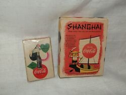 1950's Coca-cola Playing Cards And 1957 Coca-cola Advertisement Shanghai Game