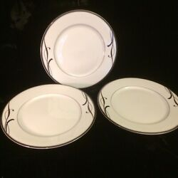 Mikasa Cocoa Blossom Lot Of 3 Salad Plates 7 7/8 Inch New With Labels Mint