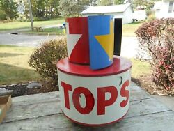Rare Vintage Shell Tcps Gas Station Pump Spinner Topper Advertising Sign Globe