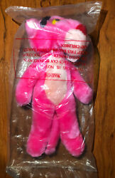 """Pink Panther Plush Stuffed Animal Toy Ace 1996 14"""" Long With Tag - New - Rare -"""