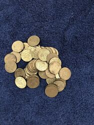 Lot Of Chuck E Cheese Tokens From 2000 To 2011 Total Of 54 Coins