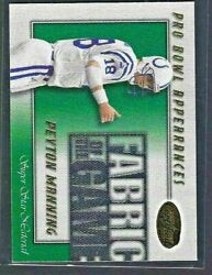 2000 Leaf Certified Fabric Of The Game /500 Peyton Manning Fg-12 Indiana Colts