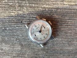 Vintage Angelus Chronograph Military Aviator Watch Caliber 215 From 1940's