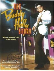 Don Stroud Signed 8.5 X 11 Photo The Buddy Holly Story Movie Jesse Free Shipping