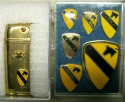 /us Army 1st Cavalry Division Lighter And 6 Pins