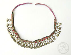 Antique Himalayan Indian Or Nepalese Talismanic Brass Charm Necklace