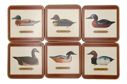 'decoy Duck' Coasters By Pimpernel - Set Of 6