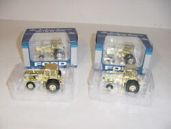1/64 Ford Tw-35 Blue And Gold Chrome Toy Tractor Times Tractors Nib 1 Of 12 Sets