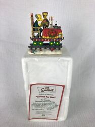 """The Simpsons """"a Feast For One"""" Christmas Express Train Hamilton Collectible 2003"""
