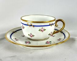 M. Raynaud Limoges Demitasse Cup And Saucer Tea Cup Zurich Porcelain