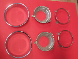 Nos 72 73 74 Dodge Challenger Rt Rally Head Light Buckets Rings And Bezels 3573242
