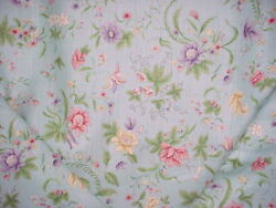 13y Gp And J Baker R1369 Queen Anne Chinese Sky Blue Linen Print Upholstery Fabric