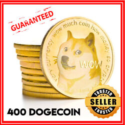400 Dogecoin Doge Cryptocurrency Aka Dog Coin Mining Contract 24 Hours