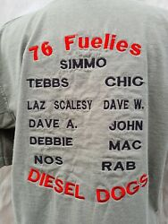 British Army Tour T Shirt Kosovo Dec 03-may 04, Diesel Dogs 76 Fuelies Tanker S