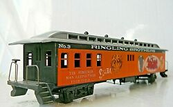Roundhouse 50' Pullman Combination Clerestory Ringling Brothers Circus 3 - Ho