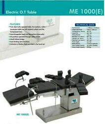 Operation Theater Ot Table Me -1000 Fully Electric C-arm Compatible Surgical Tab