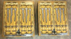 2 New Monster Energy Ultra Gold + Energy Drink 4 16 Fl Oz Can Pack