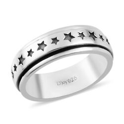 Shop Lc 925 Sterling Silver Star Spinner Band Ring Jewelry Gift For Women