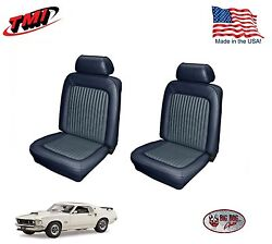 Dark Blue Front Bucket Seat Upholstery For 1969 Mustang Made In The Usa Tmi