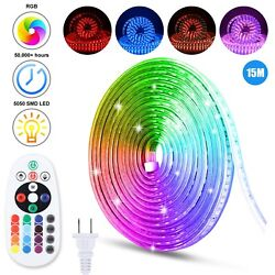 5050 Led Strip Rope Light Waterproof Rgb Color Changing Lights Flexible W/remote