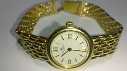 Solid 14k Gold Baume And Mercier Womens Watch 29.3 Grams - 5-2/3 Wrist