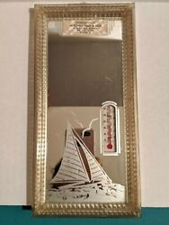 Vintage Advertising Thermometer Picture Feed And Seed Big Lake Minnesota Sail Boat