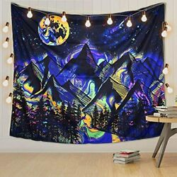 Cool Tapestry for Bedroom Wall Hanging Night Sky Mountain Trippy Pretty Very Big