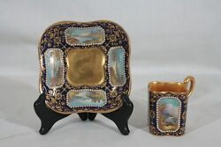 Rare Antique 1880s Coalport Spaulding And Co Handpainted Demitasse Cup And Saucer 4