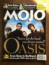 Mojo Magazine 14 1995 Oasis Bob Dylan From Bono Nine Inch Nails Live Review