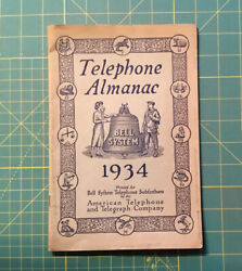 Vintage Telephone Almanac, Bell System, 1934 American Telephone And Telegraph Co.